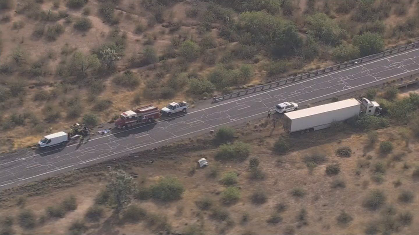Two people were killed following a crash on northbound U.S. 93, south of S.R. 71 at milepost 176. (Source: 3TV/CBS 5)