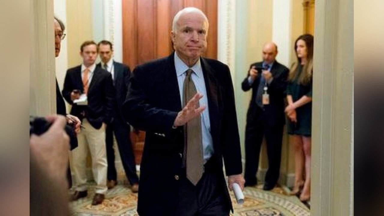 McCain sent shockwaves through the Senate early Friday morning, July 28 when he cast the deciding vote rejecting the GOP's heath care effort to repeal and replace the Affordable Care Act. (AP Photo/Andrew Harnik, File)
