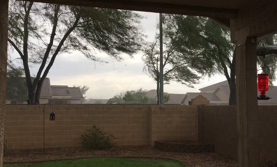 El Mirage rain (Viewer photo)
