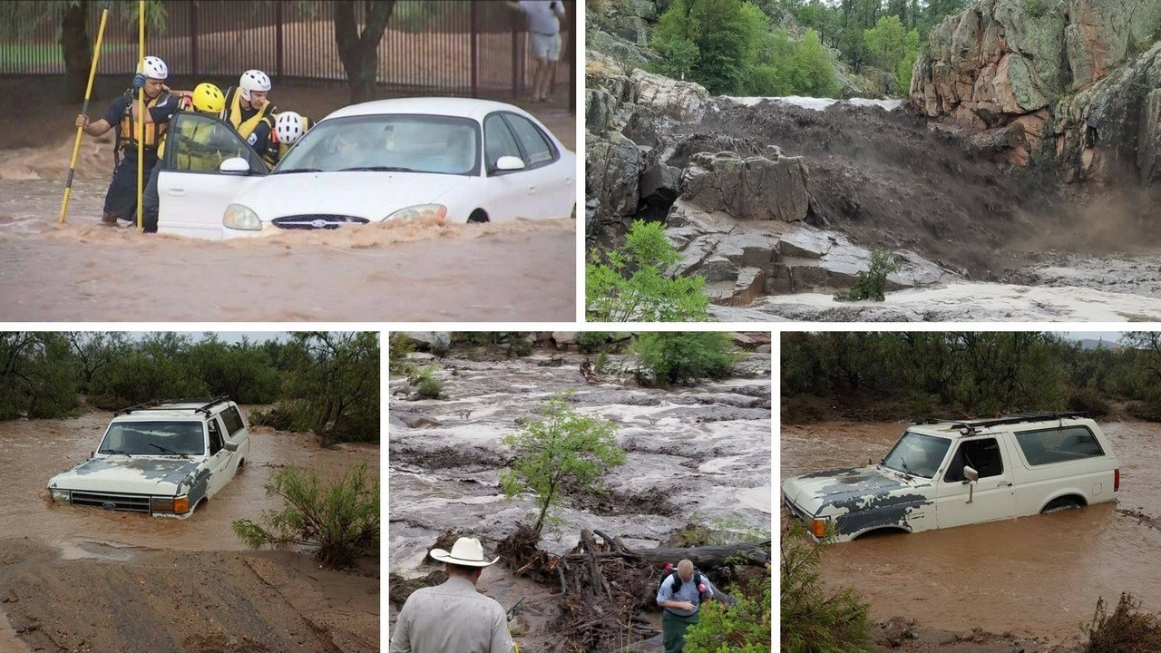 Dangerous flash floods are all too common in Arizona and they can develop without warning. (Source: 3TV/CBS 5, MCSO, Amy Lloyd)