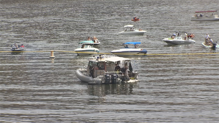 Crews searched the water to make sure there weren't any other people in the truck. (Source: 3TV/CBS 5)