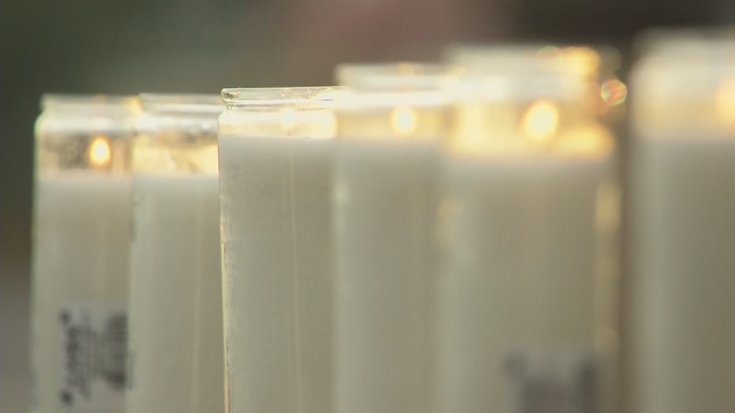 Some lit candles while others left flowers. (Source: 3TV/CBS 5)