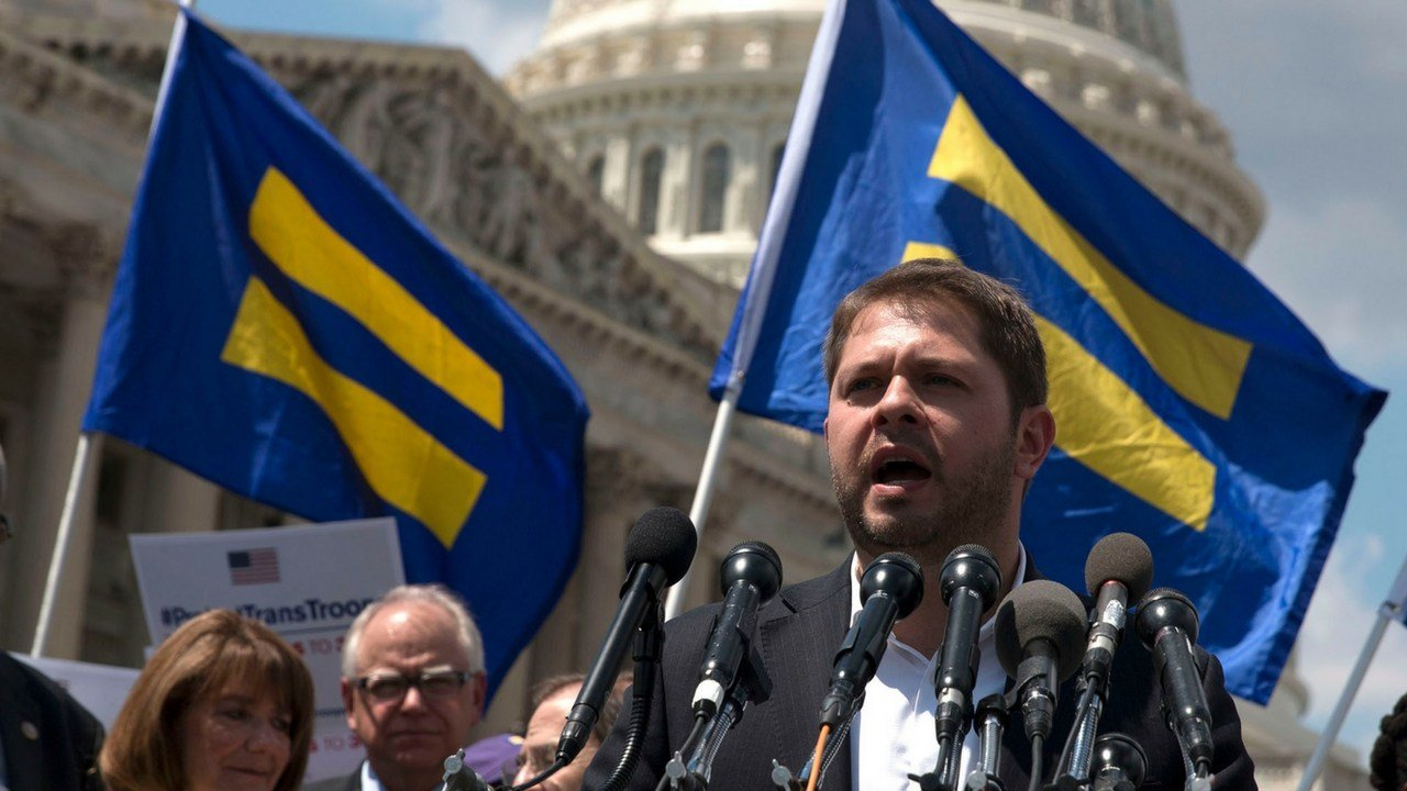 "Rep. Ruben Gallego, D-Phoenix, a veteran of the war in Iraq, called President Donald Trump's announcement via Twiter on Wednesday of a ban on transgender members of the military ""embarrassing"" and ""dumb."" (Photo by Megan Janetsky/Cronkite News)"