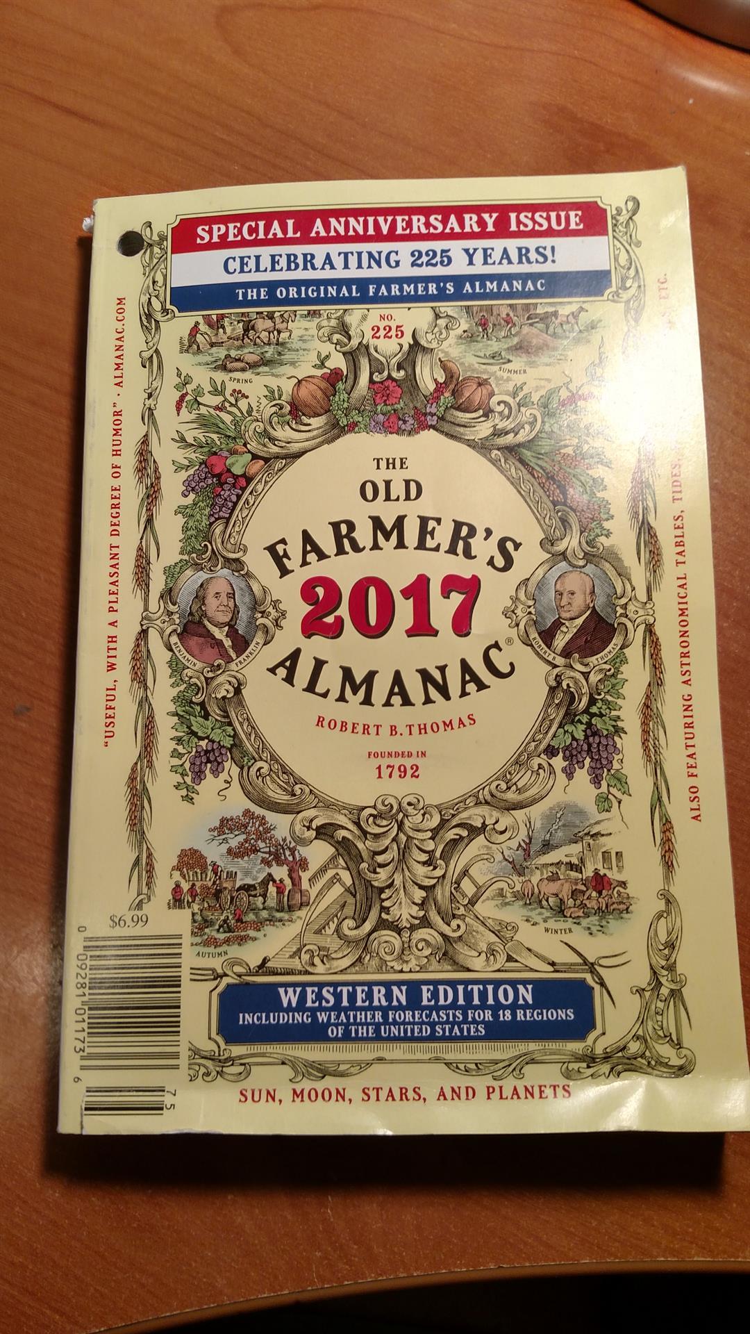 The 225th Anniversary Old Farmer's Almanac. (Source: Royal Norman)