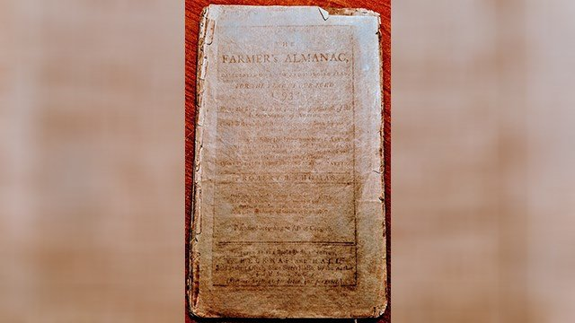"""This is the first Farmer's Almanac for 1793. Note: it wasn't called the """"old"""" almanac for about 50 years. (Source: Royal Norman)"""
