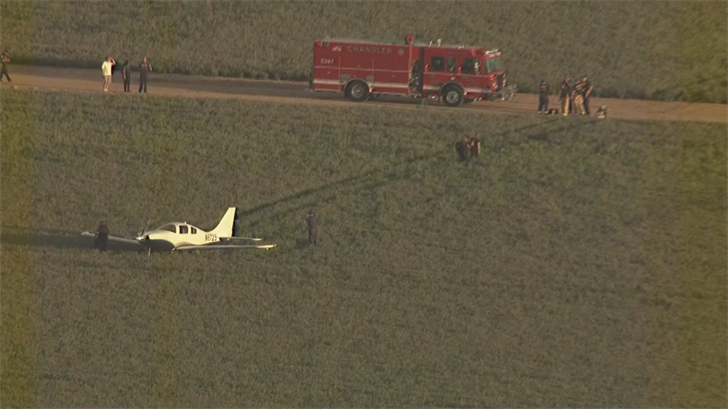 The plane went down miles short of the Chandler Airport. (Source: 3TV/CBS 5)