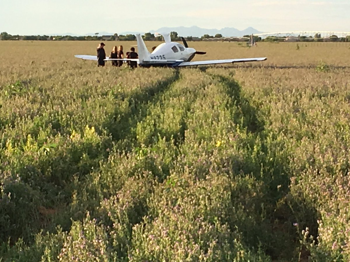 According to the FAA, there was an engine failure in the plane. (Source: Chandler Fire Department)