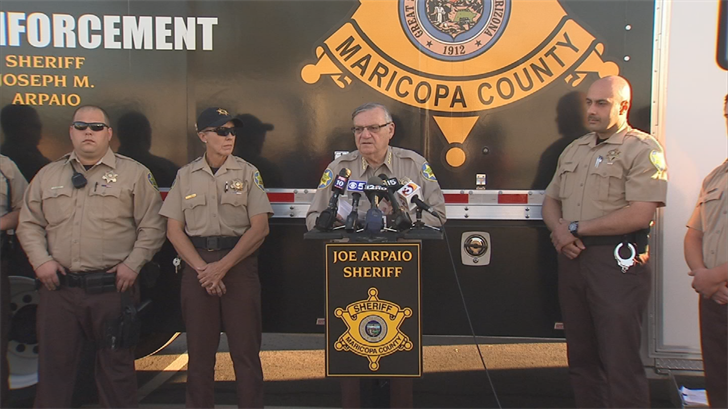 A judge found Joe Arpaio guilty of violating a court order in a racial profiling case to stop immigration patrols. (Source: 3TV/CBS 5)