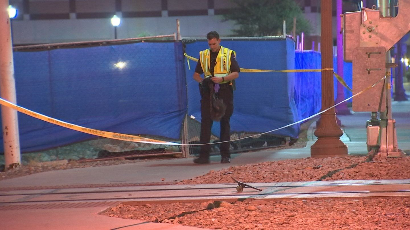 A young man was hit in the head by an oncoming train while trying to save his skateboard in Tempe. (Source: 3TV/CBS 5)