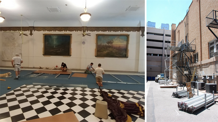 Beginning of restoration work at Phoenix Masonic Temple. (Source: Arizona Lodge No. 2 F&AM)