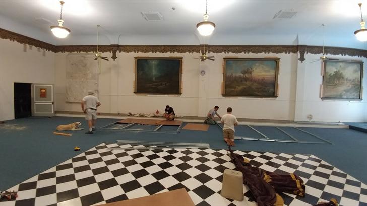 Beginning of restoration work at Phoenix Masonic Temple. (Source:Arizona Lodge No. 2 F&AM)