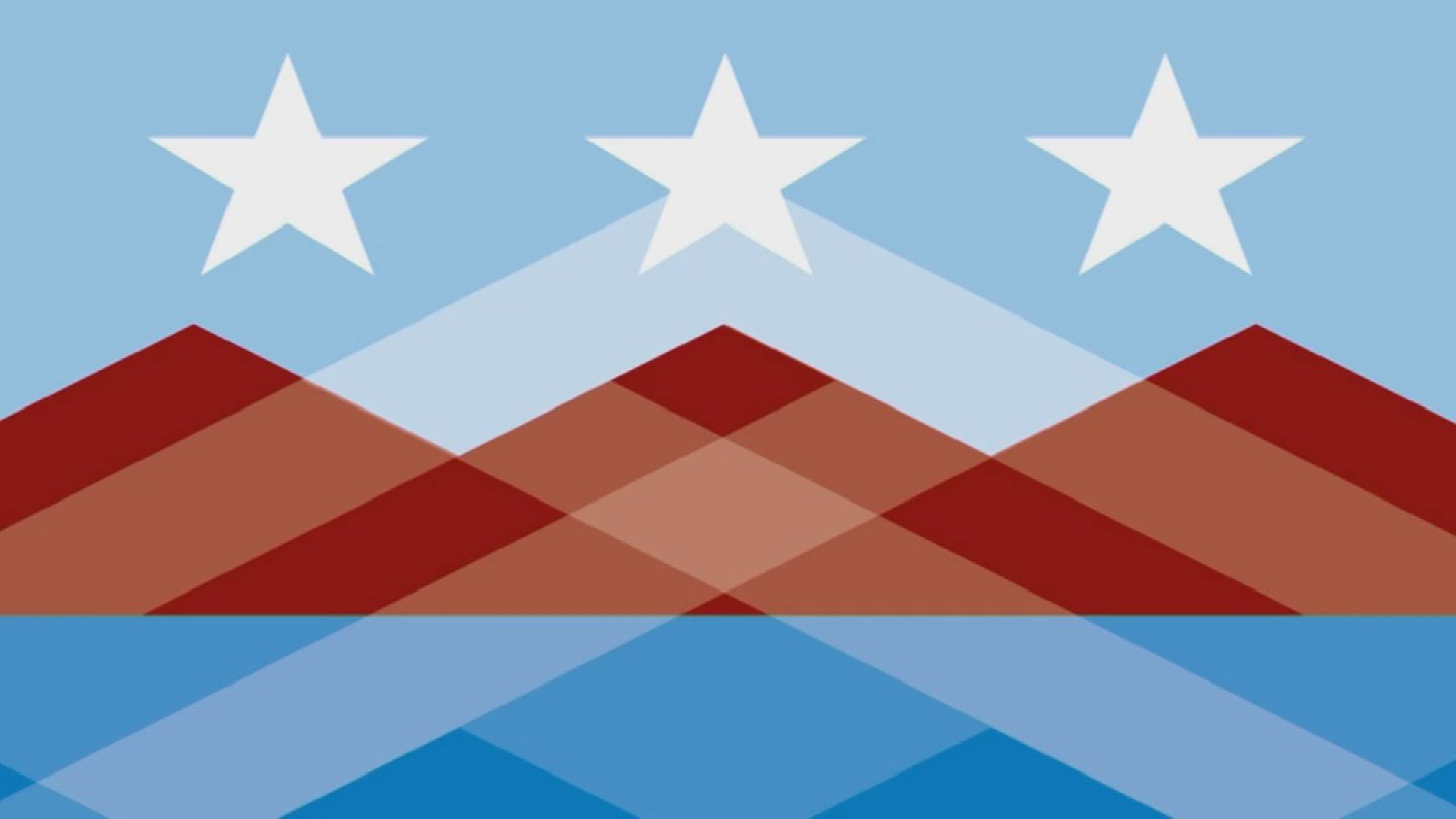 The flag represents Peoria's own pallet -- the rust and browns of the Sonoran Desert and the mountains all around us, the blues of the waters of our own Lake Pleasant and the Arizona skies. (Source: City of Peoria)