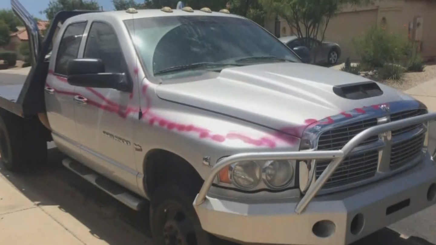 Police said eight cars and homes were vandalized early Monday. (Source: 3TV/CBS 5)