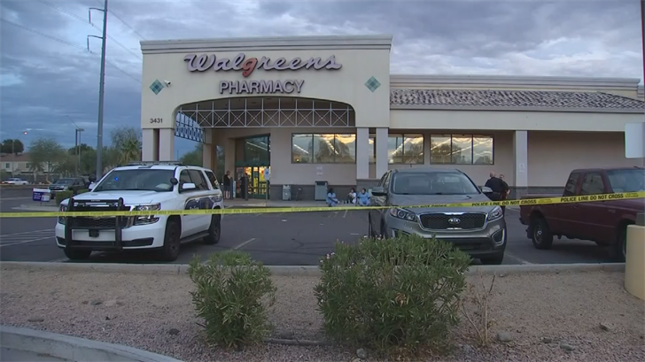 Phoenix police say the man was trying to steal Oxycontin from the store. (Source: 3TV/CBS 5)