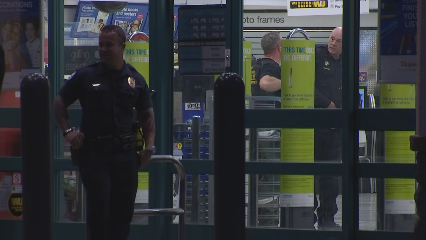 Witnesses told police that the male suspect was shot by a customer during the attempted hold up. (Source: 3TV/CBS 5)