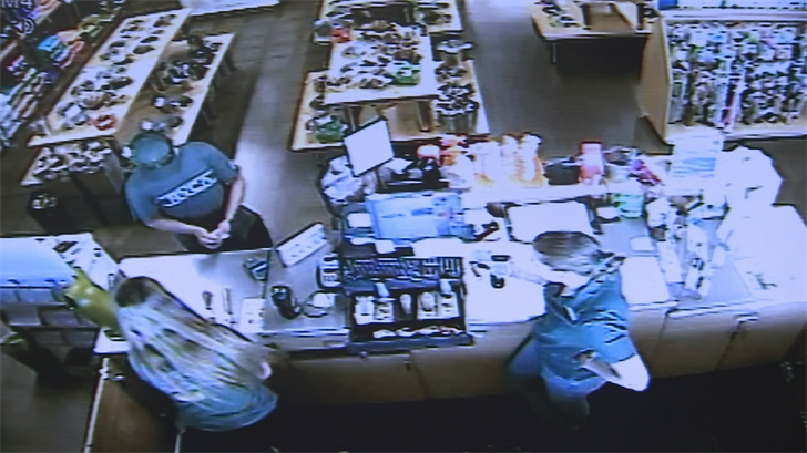Once he had his change, he had no plans to stick around, ripping the receipt out of the machine himself and rushing out of the store. (Source: 3TV/CBS 5)