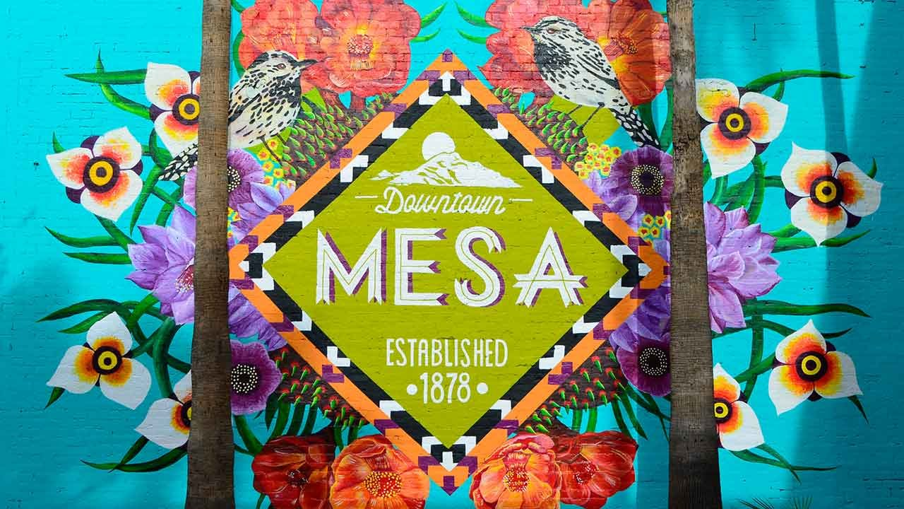 One of the many murals in downtown Mesa. (Source: City of Mesa)
