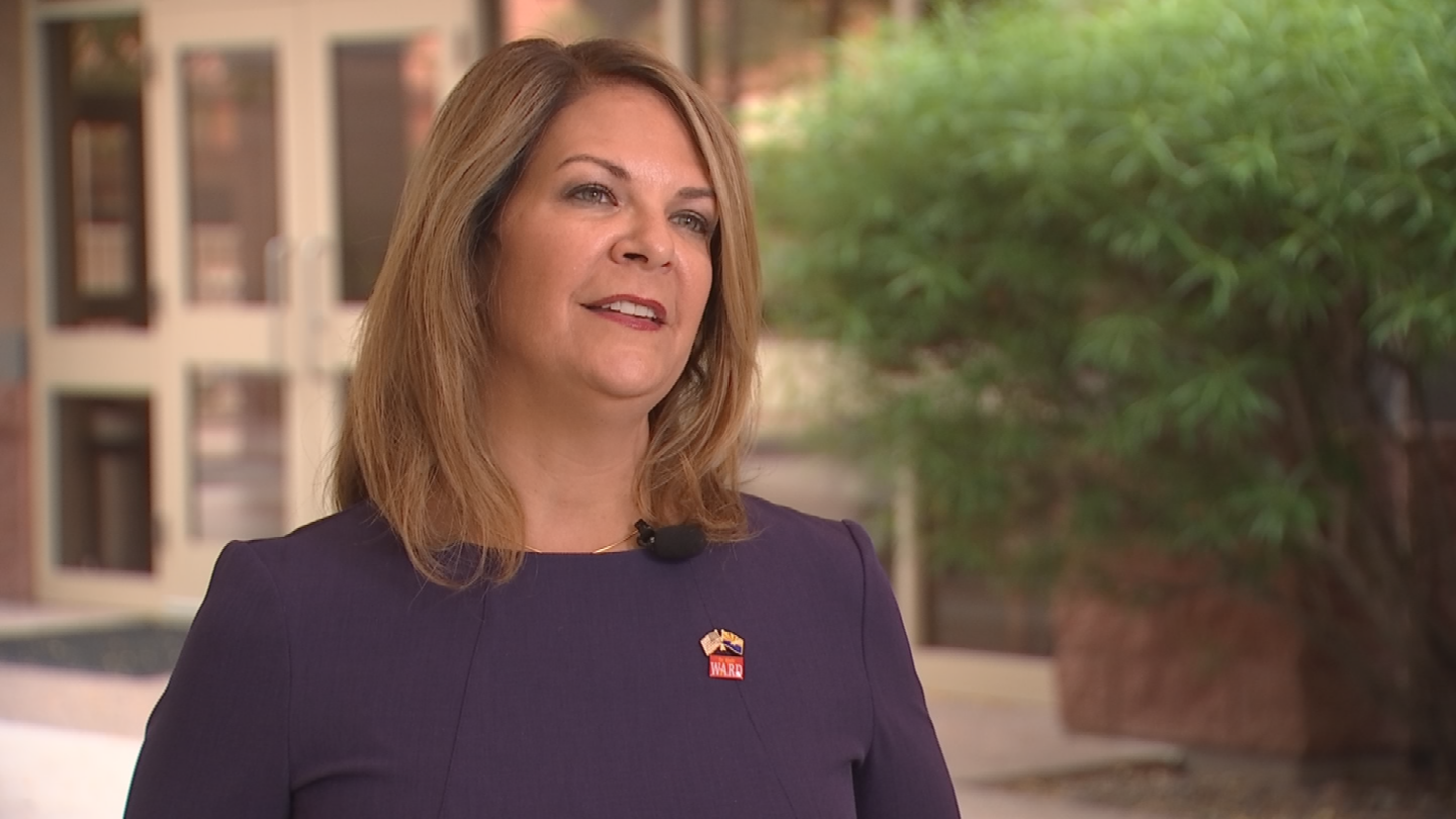 Kelli Ward, a Republican challenging Flake for his seat next year, disagrees with Flake's position and urges lawmakers to vote for the bill. (Source: 3TV/CBS 5)