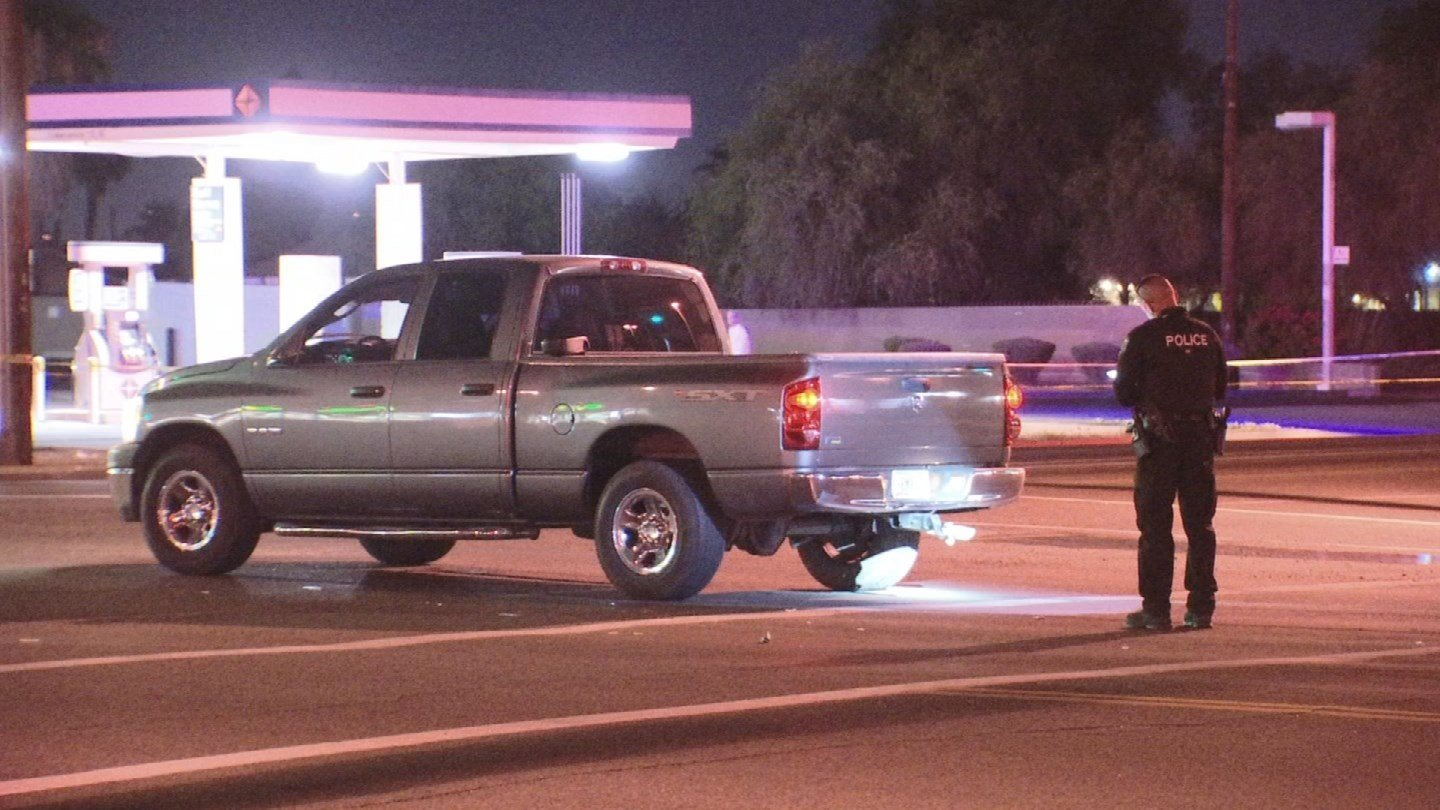 A pedestrian suffered serious injuries after being struck by a truck late Wednesday night. (Source: 3TV/CBS 5)