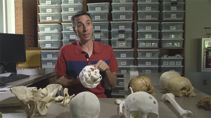 "ASU Professor Christopher Stojanowski just published a book on the topic called ""Studies in Forensic Biohistory: Anthropological Perspectives."" (Source: 3TV/CBS 5)"