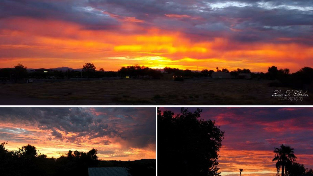 Arizona is known for some pretty incredible sunsets and sunrises year round. (Source: Lisa Baker, Karen Olivera, Lorri Bowe)
