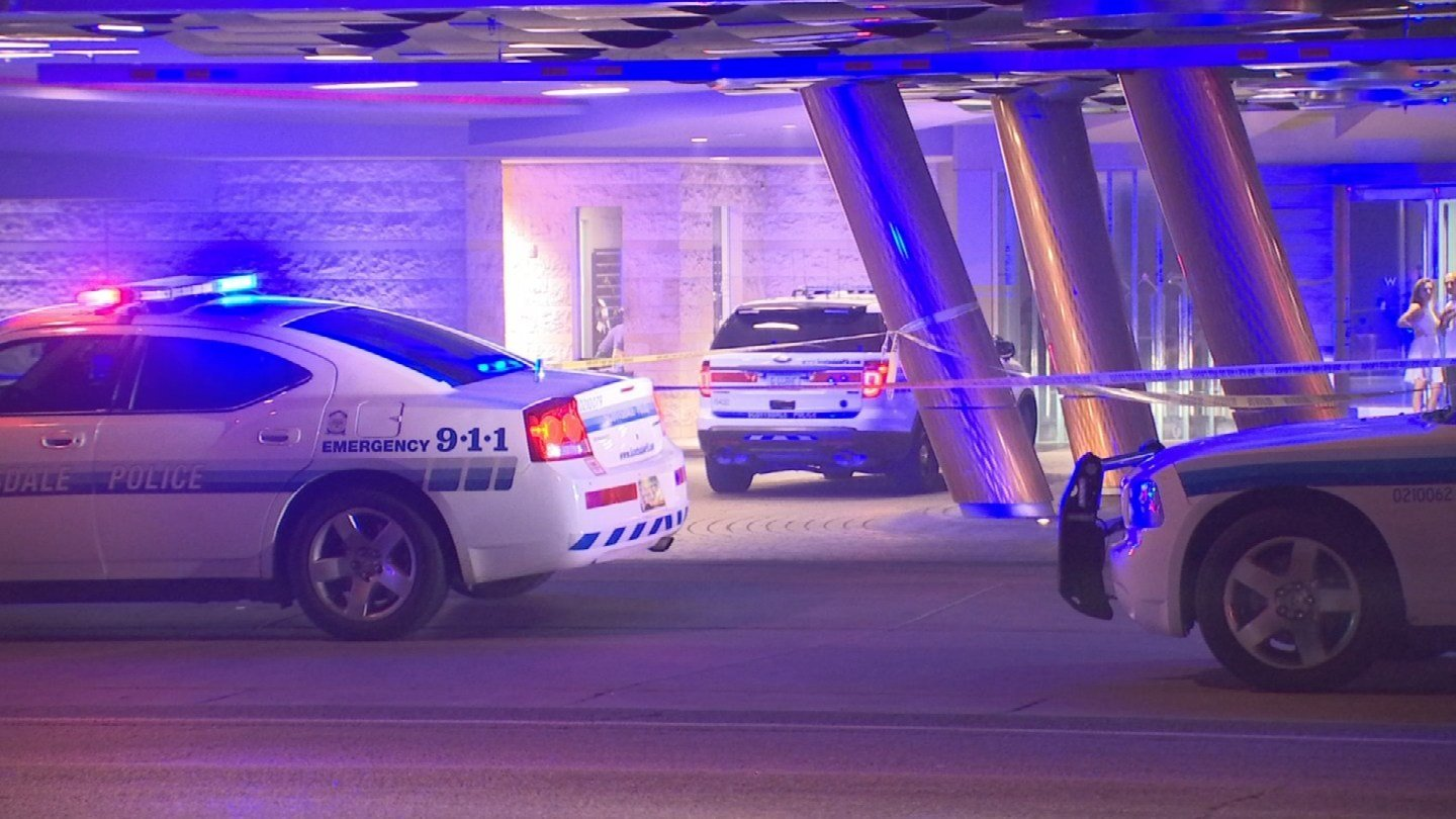 A man was struck and dragged a short distance after laying down on the W Scottsdale parking garage ramp. (Source: 3TV/CBS 5)