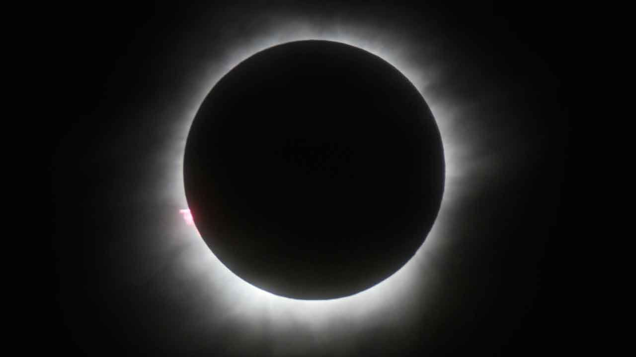 This March 9, 2016 file photo shows a total solar eclipse in Belitung, Indonesia. (Source: AP Photo, File)