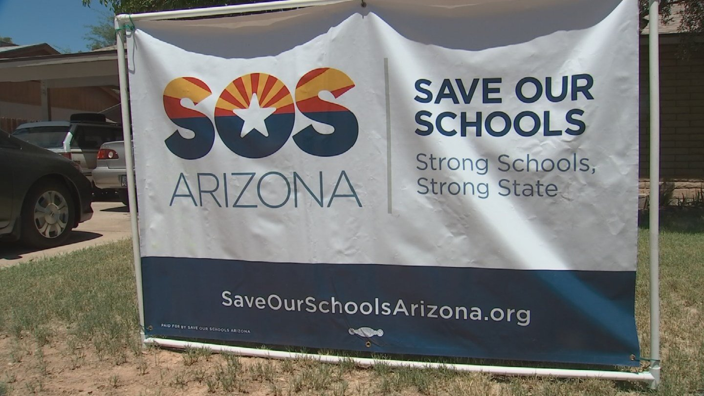 Save Our Schools Arizona. (August 7, 2017) [Source: 3TV/CBS 5]