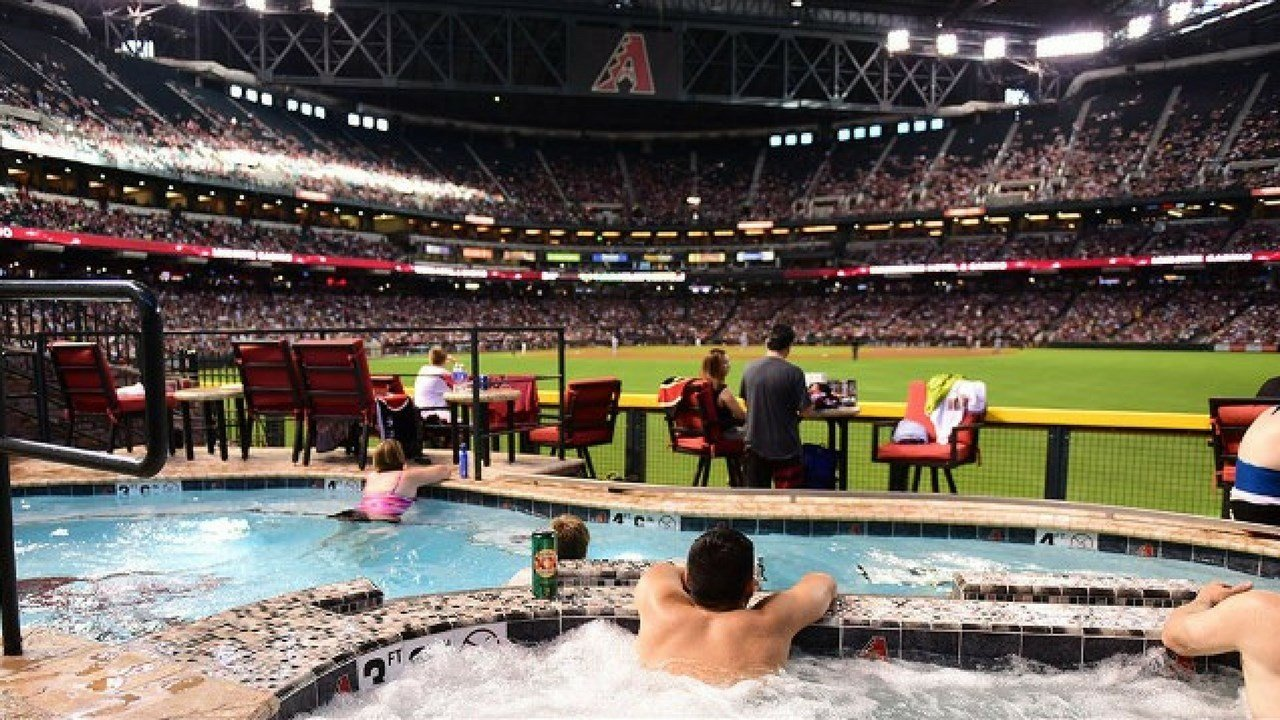 The pool at Chase Field has a unique history. (Photo courtesy: Arizona Diamondbacks)