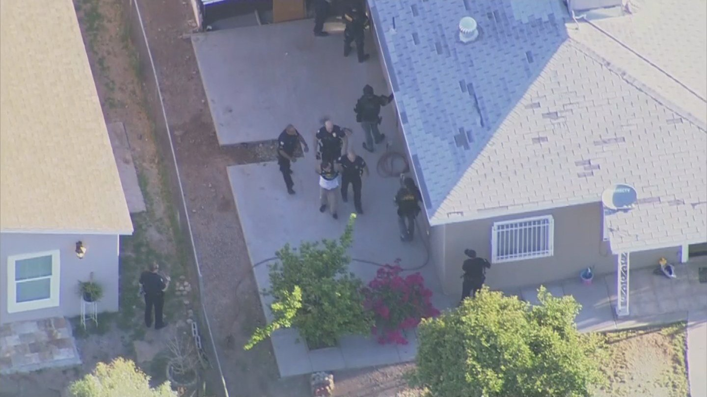 Man was later taken in police custody after he hid in a shed near 24th and Adams streets. (Source: 3TV/CBS 5)
