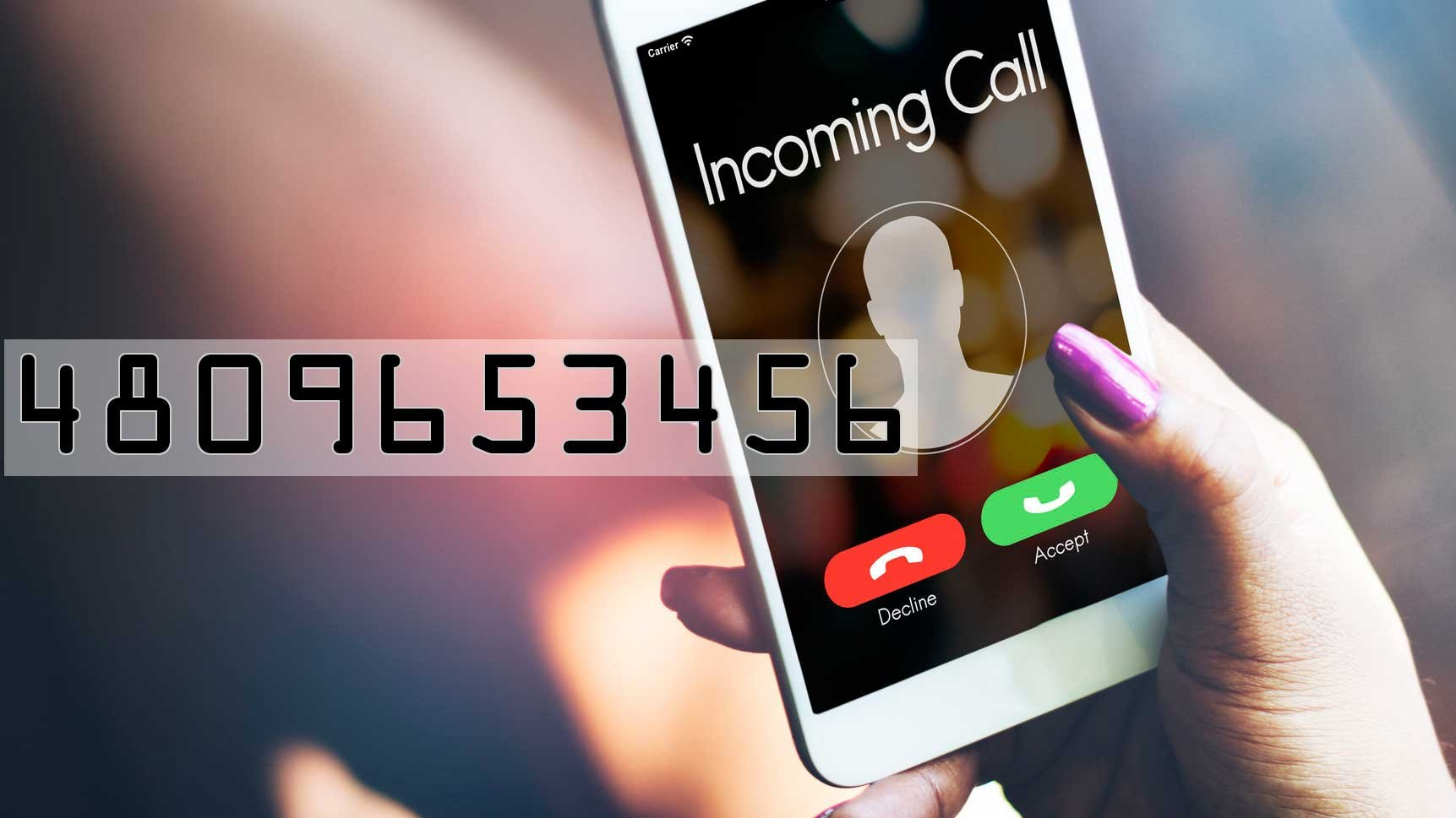 'The caller ID showed 4809653456 without spaces or hyphens,' according to the ASU Police Department. (Source: 3TV/CBS 5 and rawpixel via 123RF)