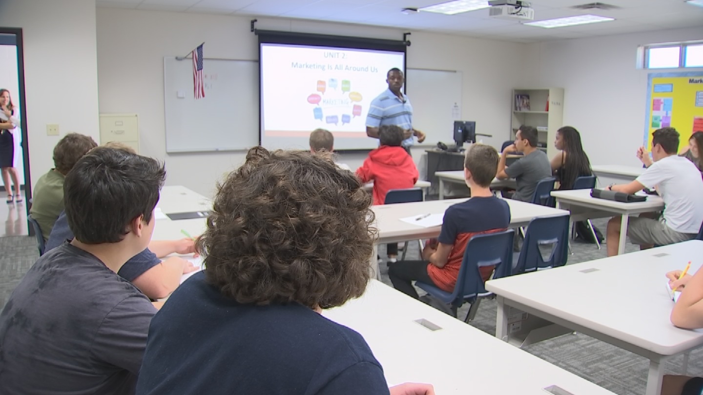 Bobby Newcombe is a first-year teacher at Casteel High School in Queen Creek. (Source: 3TV/CBS 5)