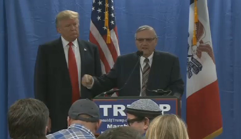 Arpaio endorsed Trump in January 2016. (Source: 3TV/CBS 5)