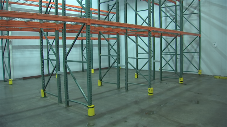 The freezer hasn't been this empty since 2010 when the facility was first built. (Source: 3TV/CBS 5)