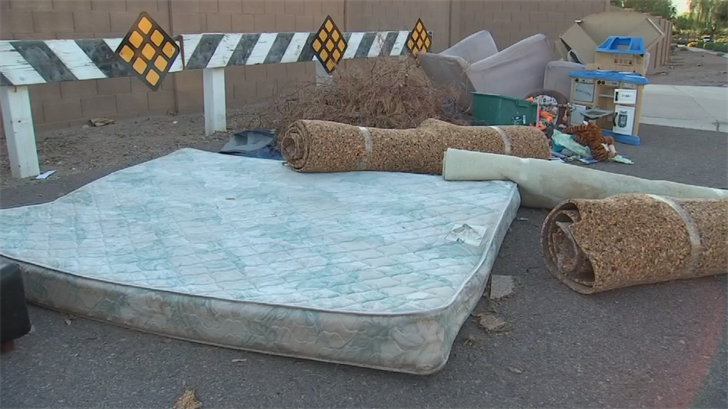 The City of Phoenix will pick up bulk trash from residents for free once every three months. (Source: 3TV/CBS 5)