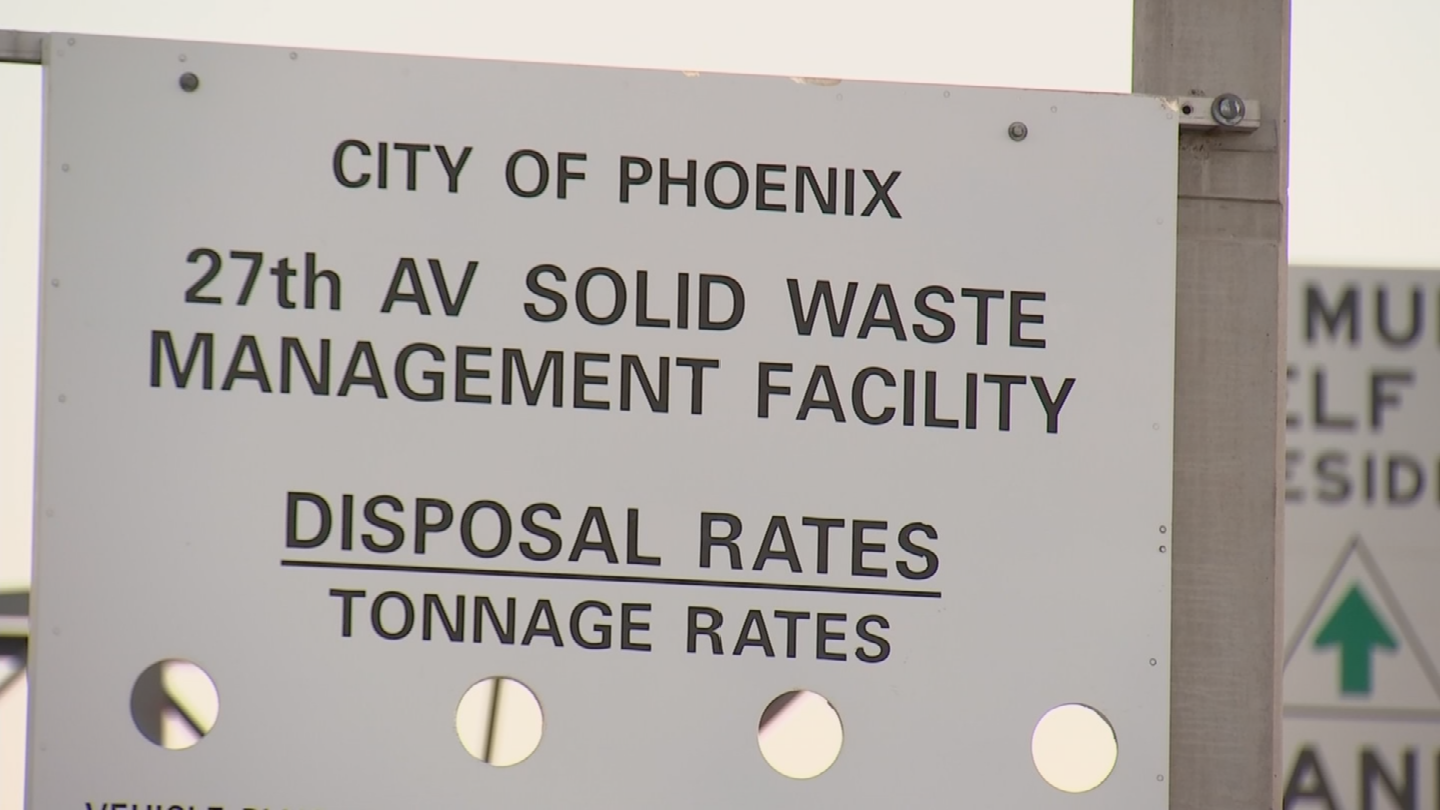 The dumped items in Laveen are less than 3.5 miles from the 27th Avenue Transfer Station. (Source: 3TV/CBS 5)