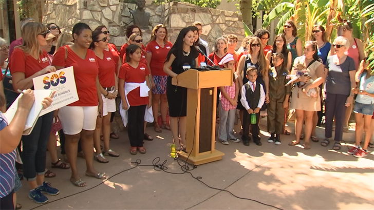 The anti-voucher group mainly used volunteers to collect the signatures in 90 days. (Source: 3TV/CBS 5)