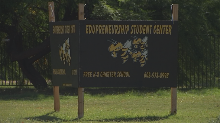 "The school at the center of this, Edupreneurship Student Center, or ""ESC"" as it's known, is a charter school in north Phoenix. (Source: 3TV/CBS 5)"