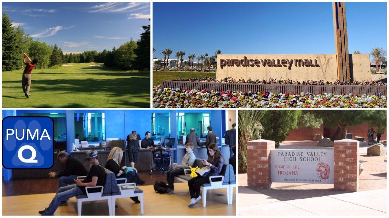 (Source: Paradive Valley Golf Club, Paradise Valley Mall, Paradise Valley Community College, Paradise Valley High School)