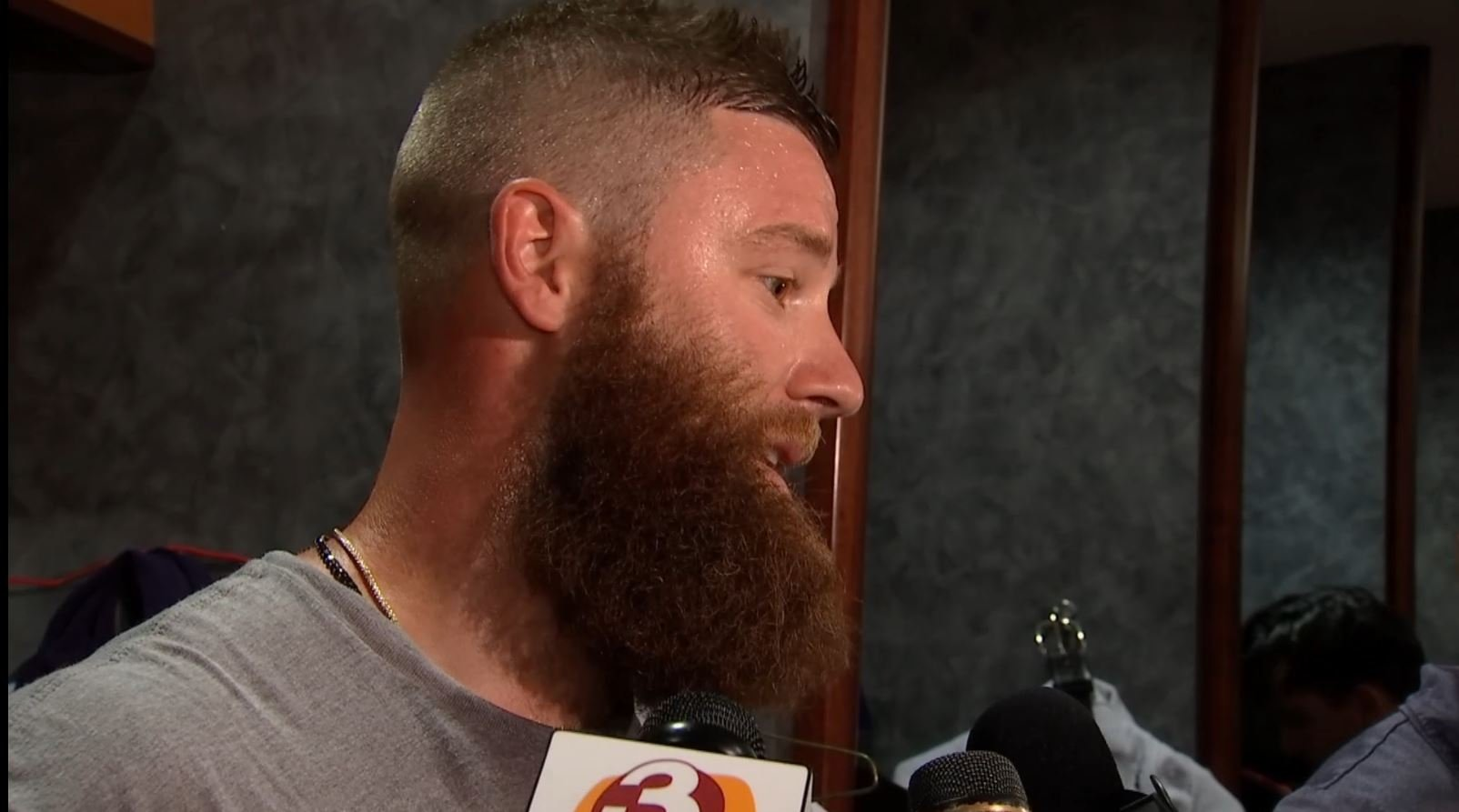 "D-backs pitcher Archie Bradley discusses his ""Our House"" comments. (Source: 3TV/CBS 5)"