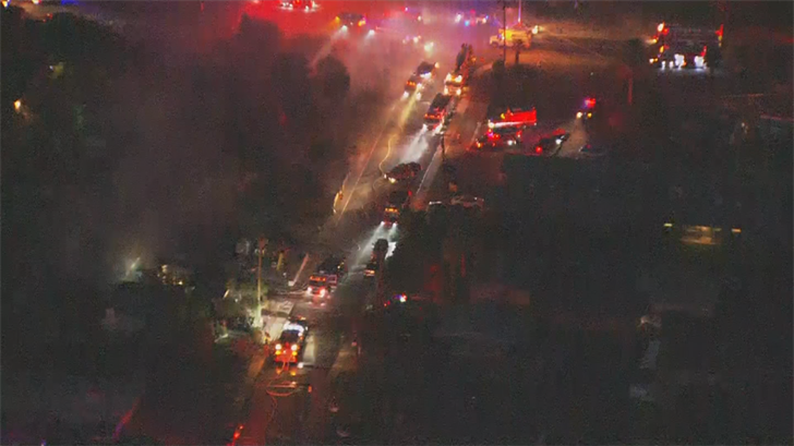 An investigation is underway into what sparked the flames. (Source: 3TV/CBS 5)