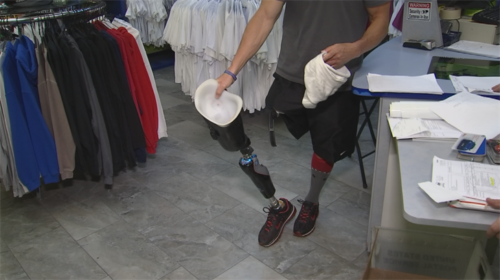 Joseph Roybal lost his prosthetic leg while wakeboarding at Saguaro lake nearly two weeks ago. (Source: 3TV/CBS 5)
