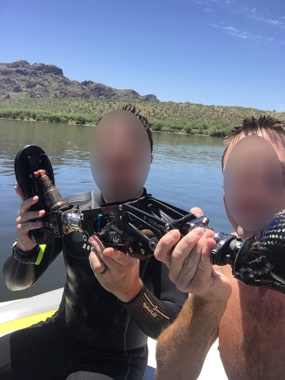 Two strangers found the leg on Wednesday. (Source: Joseph Roybal)