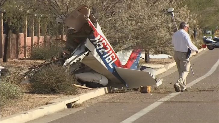 Brody Burnell, 18, was flying the plane while Chandler Riesterer, 22, was the passenger when the plane went downjust eastof Deer Valley Airport on August 1.Both were critically injured and are still hospitalized. (Source: 3TV/CBS 5)
