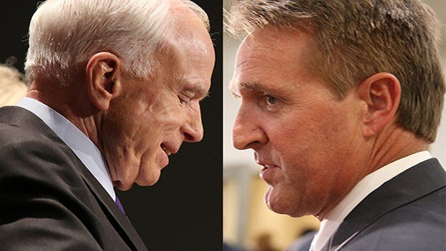 A poll last month by Morning Consult that ranked senators by popularity in their home states made Arizona Republican Sens. John McCain and Jeff Flake as second- and third-least popular in the nation. (Source: (Source: Cronkite News)