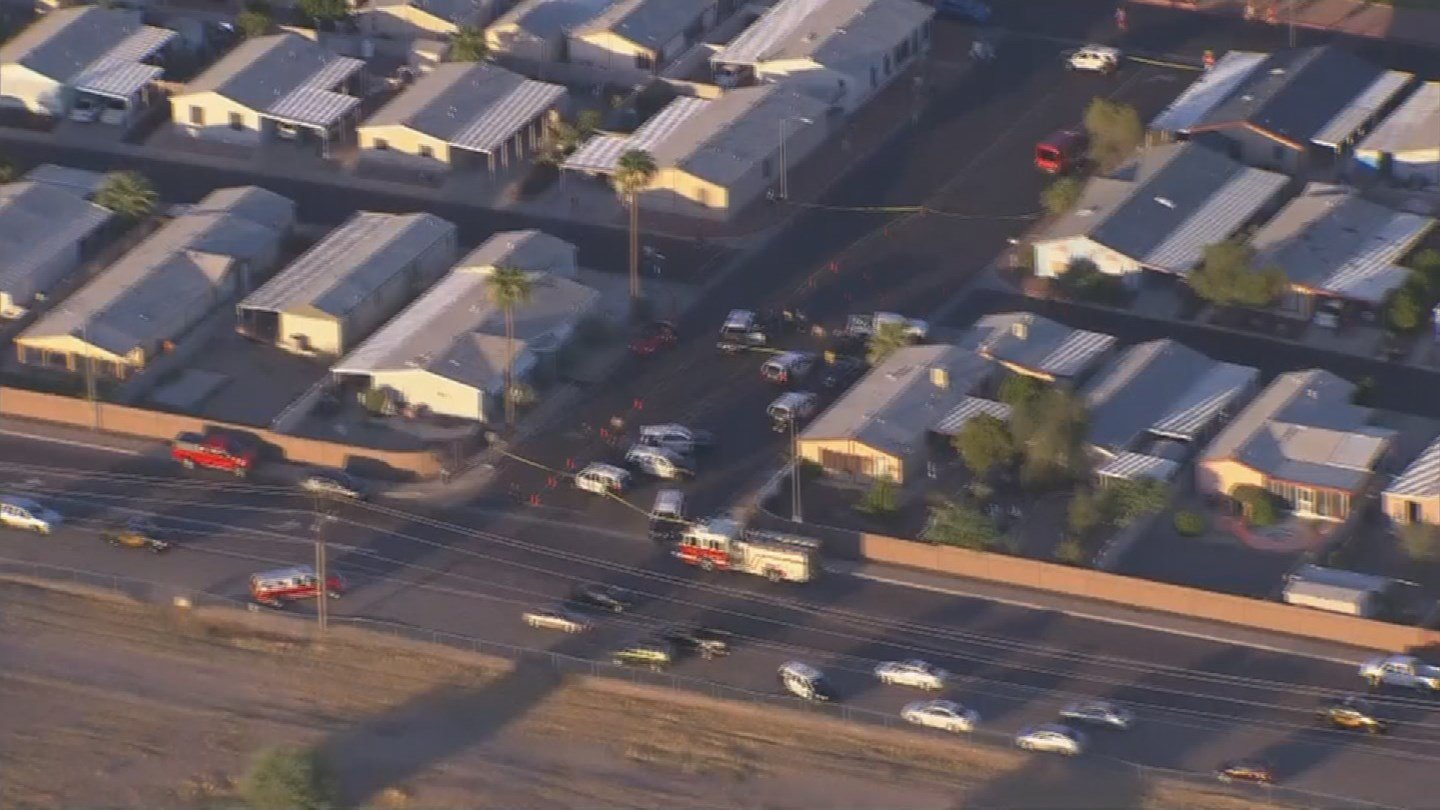 Shooting near 103rd Avenue and Northern Monday (Source: 3TV/CBS 5)