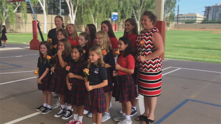 """For the seventh year in a row, the school kicked off its year-long service commitment called """"STA Serves"""" with the """"Mane Event.""""(Source: 3TV/CBS 5)"""