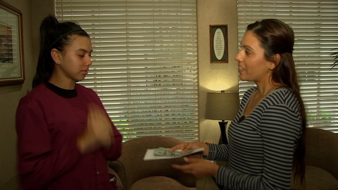 April Carillo is a 19-year old dental assistant, who loves goingto work.But her home life is a bit of a struggle. (Source: 3TV/CBS 5)