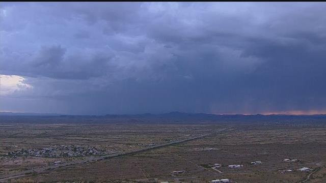 Storm cell over Wickenburg as seen from the Penguin Air and Plumbing News Chopper (Source: 3TV/CBS 5)