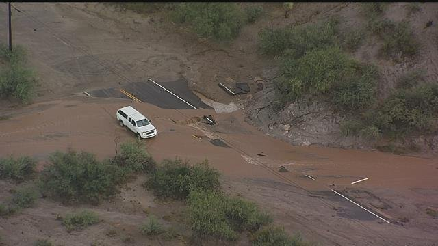 Major flooding washed out roads and soaked homes in Wickenburg on July 18, 2015. (Source: 3TV/CBS 5 file photo)